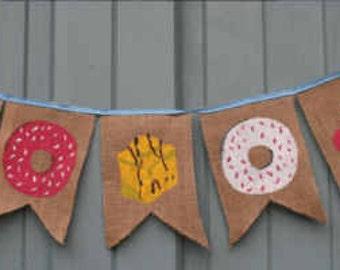 Handmade Cupcake/Doughnut/Fondant Fancy CakeDesign Bunting