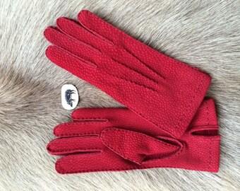 Women's Carpincho Leather Gloves Winter Gloves Unlined