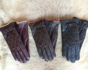 Women's Leather Gloves Winter Gloves Lambskin Glove Limited Edition