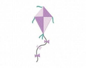 Purple Summer Kite Machine Embroidery Design