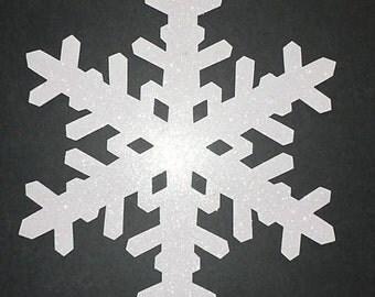 """White Snowflakes 14"""" One Pair"""