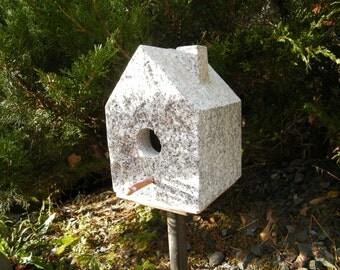 Birdhouse/Stone Birdhouse/ Handcrafted Stone Birdhouse/