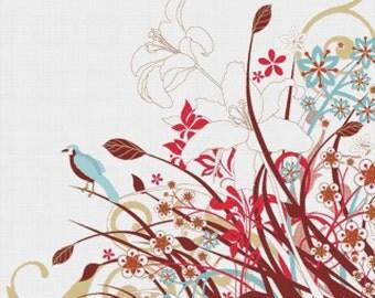Artistic Flowers PDF Cross Stitch Pattern