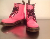 RESERVED-Doc Marten Bright Pink, Neon, Vintage Boots us6/uk4