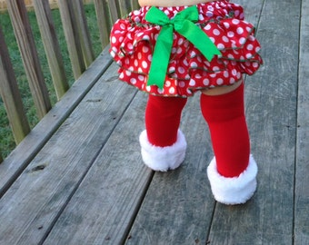 Christmas Fur Leg warmers, Faux Fur Red Leg Warmers, Baby Leg Warmers, Toddler Leg Warmers,
