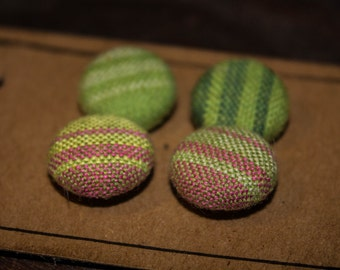 Hand Woven Fabric Covered Buttons