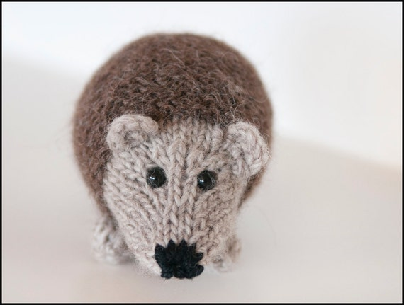 Stuffed Hedgehog Knitting Pattern : Little Hedgehog Knitted Stuffed Animal
