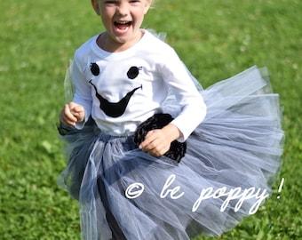 Custom couture sewn ballerina short tutu COSTUME HALLOWEEN GHOST Boo