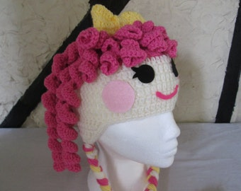 Crochet 'lala' style hat, prices vary, please see full listing for details