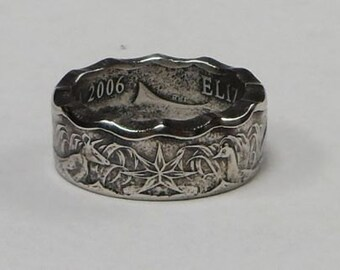 Coin Ring made from Australian half dollar  size 9-15