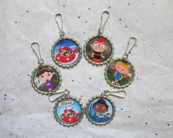 ... Party Favors, Backpack Charms, Zipper Pulls-Leo Annie June Quincy