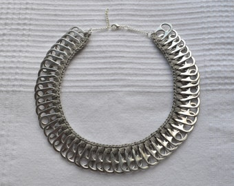 Hand made pull tabs necklace