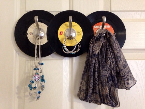 vinyl record craft ideas record hat and coat rack 5687