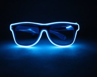 Blue Light Up Glasses - Festivals, Birthdays, EDM, Bachelorette Parties, Halloween, Batteries Included