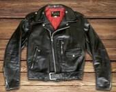 50s steerhide Sears Oakbrook  D-pocket motorcycle jacket
