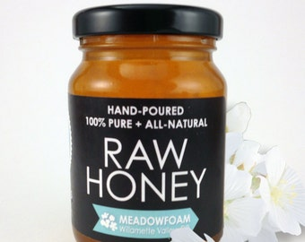 Raw MEADOWFOAM Honey - Hand-Poured, 100% Pure & All-Natural (6 oz)