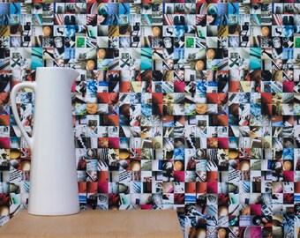 Mi Casa Su Casa Photomontage Wallpaper - Full Colour - 10m roll