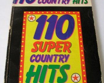 Vintage RARE - 110 Super Country Hits Songbook 1982 Sheet Music