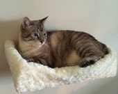 Plush Padded Cat Bed / Cat Shelf