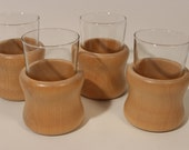 Aarikka Finland glass with wooden holder