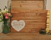 PERSONALIZED- Rustic Wedding Guest Book Alternative, Wood sign