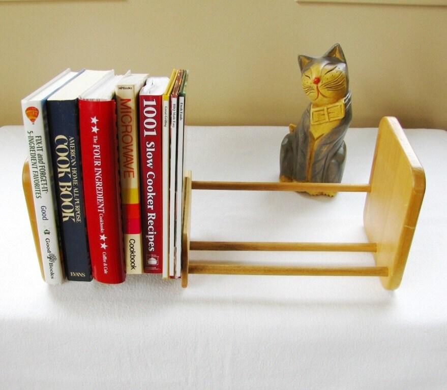 Desktop Bookshelves: RESERVED-MaureenVintage Wood Tabletop Bookshelf Desktop