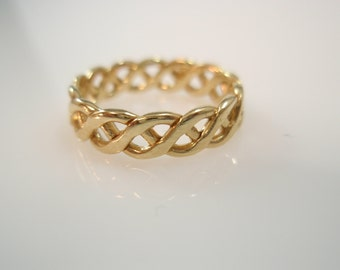 Infinity Eternity, Endless Love  ring ,Eternity Ring Wedding band 14k gold filled Ring