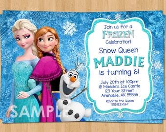Frozen Invitation - Frozen Birthday Invitation - Disney Frozen Invitation Party Invites - Birthday Party Ideas Printable Elsa Anna Olaf