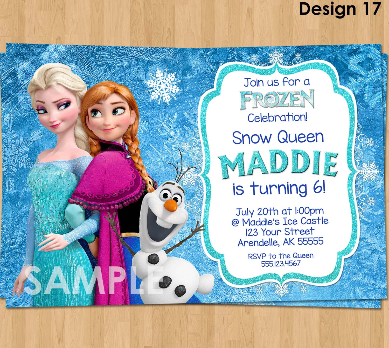 Frozen Invitation Frozen Birthday Invitation Disney Frozen - Birthday invitation frozen theme