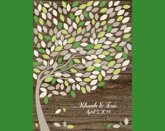 Rustic Alternative Guestbook, Signature Tree Guest Book, Wedding Tree Guestbook, 200 Guest, Large Signature Tree, Guestbook Tree