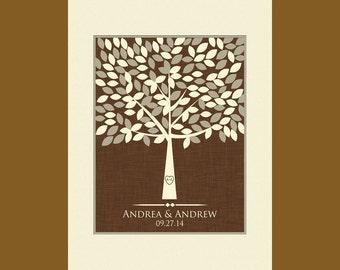 Guestbook Alternative, Large Wedding Tree Guestbook, Wedding Guest Signature Tree, Unique Wedding Guestbook, 140 Leaf Guestbook