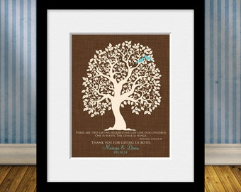 Hodding Carter Jr. Quote, Roots and Wings, Thank You Gift for Parents, Parent's Gift, Parents Anniversary Gift, Parent's Christmas Gift