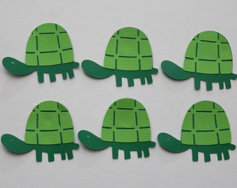 6 Turtle Die Cut / Scrapbooking / Card Making / Decor / Party