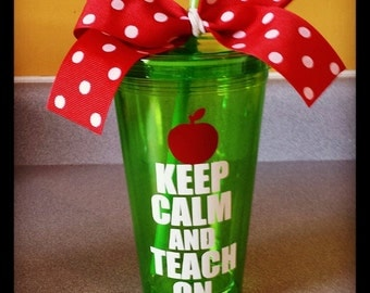 Personalized Teacher's Keep Calm Tumbler