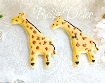 Giraffe Cookies 1 Dozen (12 cookies) Birthday - Baby Shower