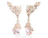 ear cuff and teardrop earrings, Prom earrings, fashion jewelry