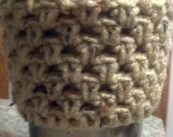 Mocha Crochet Cozy, crochet cozie, crochet mug sleeve, travel mug sleeve, travel mug cozie, travel mug cozy, to go cup sleeve