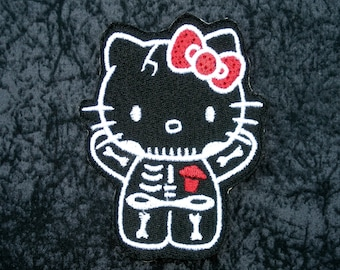 popular items for hello kitty iron on on etsy. Black Bedroom Furniture Sets. Home Design Ideas