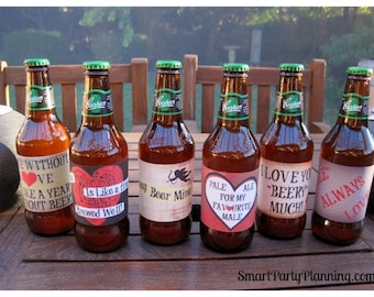 Valentines Day Printable Beer Labels - Smart Party Planning