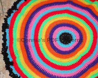 Rainbow Neon Rug Pattern