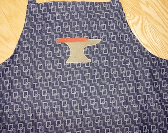 METALSMITHING SILVERSMITHING ANVIL Apron  Embroidery Applique