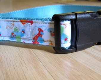 Flying High -  Airplane Dog Collar