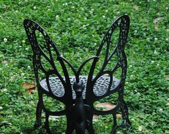 Butterfly Chair In Field Of Clover