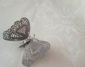 Vintage Butterfly Brooch, Springy, Metal