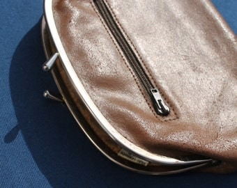 SALE -Vintage oversized Coin Purse Made in England Circa 1960's