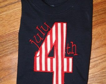 4th of July Applique Shirt
