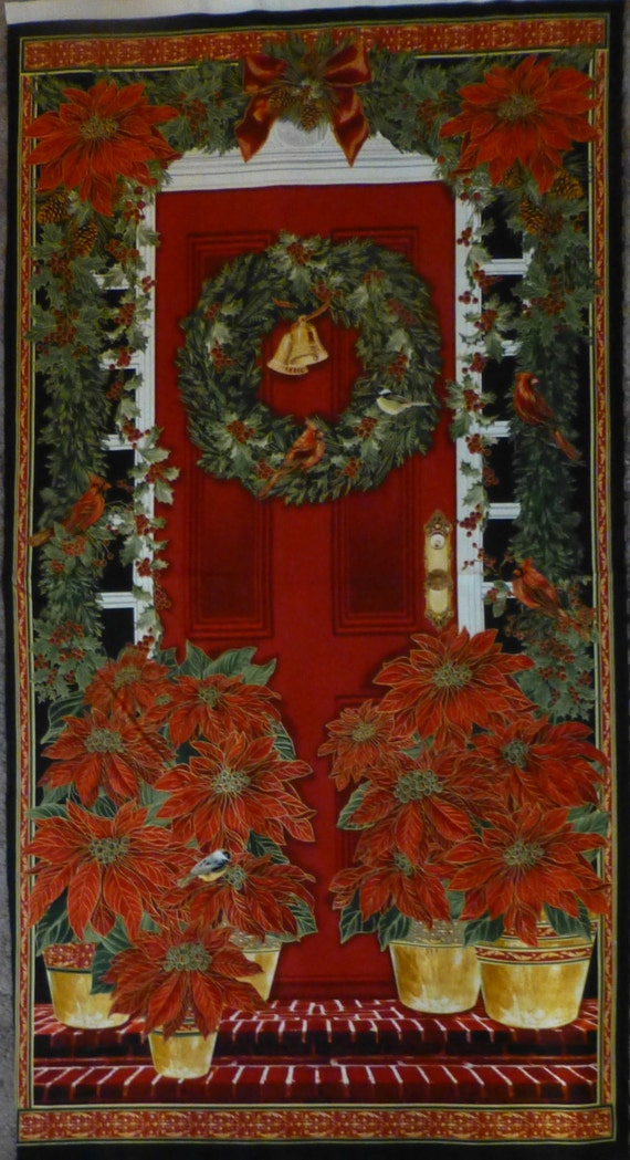 Cotton Fabric, Home Decor, Craft, Christmas, Wall Hanging, Door ...