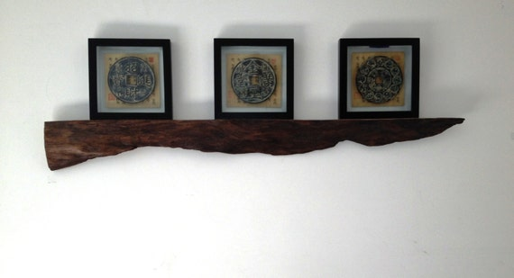 Decorative Wall Shelf With Hooks Mantle Rack : Driftwood decorative wall hanging shelf or mantle piece