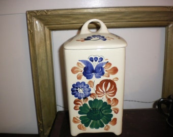 Chech Painted Kitchen Canister