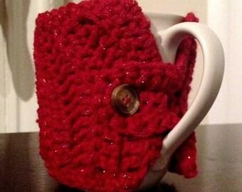 Coffee Mug Crochet Sweater Cozy